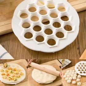Ravioli Cetakan Adonan Pangsit Dumpling Patty Dough Press Mold 19 Hole - BOS0010 - White