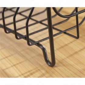 MitoClean Rak Piring Gelas Pengering Drainer 2 layer Stainless Steel - MYHY001 - Black - 7