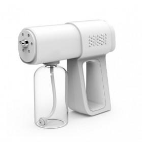 Bisturizer Pistol Semprot Uap Air Disinfection Nano Spray Gun 380ml With Blue Light - K5 - White