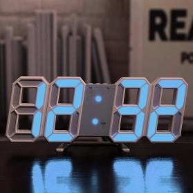 WandG Jam Meja LED Digital Alarm Clocks Wall - G00251 - White/Blue