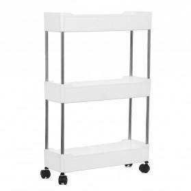 Pawaca Rak Laci Tingkat Dapur Kitchen Storage Rack 3 Layer - F31793 - White