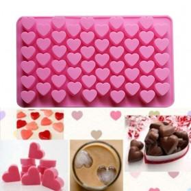 WU FANG Cetakan Coklat 3D Es Batu Ice Cube Tray Mold Model Love - BP55 - Pink