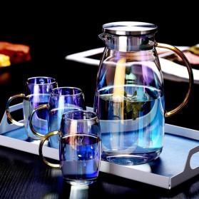 Homadise Teko Pitcher Teh Kopi Jus Borosilicate Glass 1.8L with 2 Gelas - TP-966 - Multi-Color