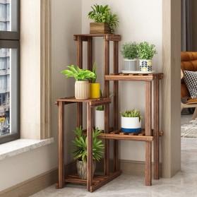 Larc Rak Tanaman Pot Bunga 5 Susun Flower Stairs Shelves Wood 49x50x100cm - LA24 - Wooden