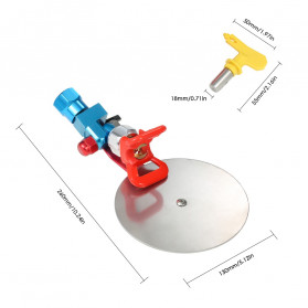 KKMOON Spray Gun Paint Guide Disc 7/8 Inch - K-80 - 6