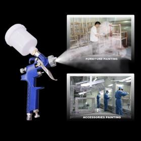 Alat Tulis Kantor - AETool Professional Spray Gun Nozzle HVLP Airbrush 2.0mm - H-2008 - Blue