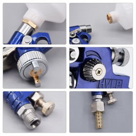 AETool Professional Spray Gun Nozzle HVLP Airbrush 1.7mm - H-827 - Blue - 3