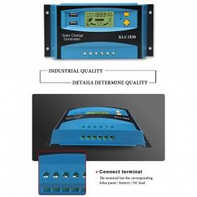 DEMUDA PWM Solar Charger Controller 30A with Dual USB 2.5A 12V 24V - KLS-1830 - Blue - 4