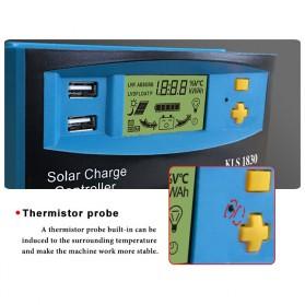 DEMUDA PWM Solar Charger Controller 30A with Dual USB 2.5A 12V 24V - KLS-1830 - Blue - 6
