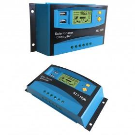 DEMUDA PWM Solar Charger Controller 30A with Dual USB 2.5A 12V 24V - KLS-1830 - Blue - 7
