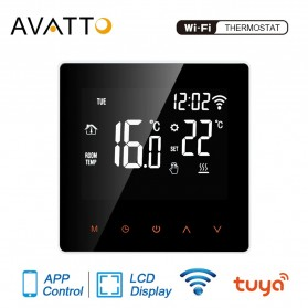 AVATTO Tuya Smart WiFi Floor Heating Thermostat Temperature Controller 16A - ME81H - Black