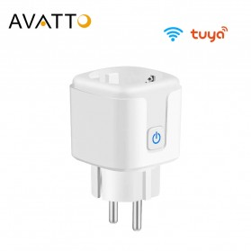 Avatto Tuya Stop Kontak WiFi Socket Smart Plug 16A - ZEU-003 - White