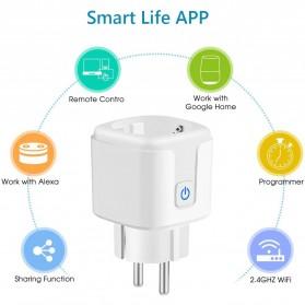 Avatto Tuya Stop Kontak WiFi Socket Smart Plug 16A - ZEU-003 - White - 2