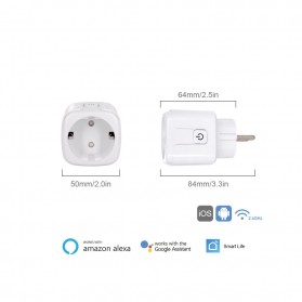 Avatto Tuya Stop Kontak WiFi Socket Smart Plug 16A - ZEU-003 - White - 8
