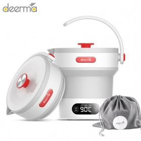 DEERMA Electric Kettle Teko Lipat Pemanas Listrik 600ML - DEM-DH300 - White