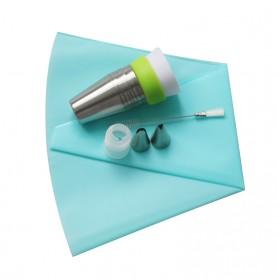 SHENHONG Kepala Nozzle Cetakan Cream Kue Decorating Pastry Tip 13 PCS - L201 - Silver - 7
