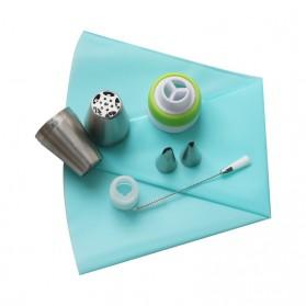 SHENHONG Kepala Nozzle Cetakan Cream Kue Decorating Pastry Tip 13 PCS - L201 - Silver - 8