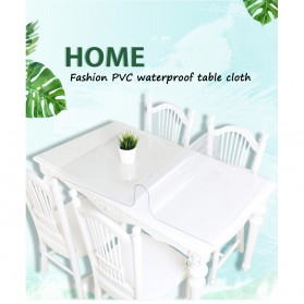 IHAD Taplak Meja Table Cloth PVC Waterproof Transparan 60 x 120 cm - TCR001R - Transparent