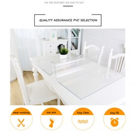 IHAD Taplak Meja Table Cloth PVC Waterproof Transparan 60 x 120 cm - TCR001R - Transparent - 3
