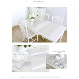 IHAD Taplak Meja Table Cloth PVC Waterproof Transparan 60 x 120 cm - TCR001R - Transparent - 6