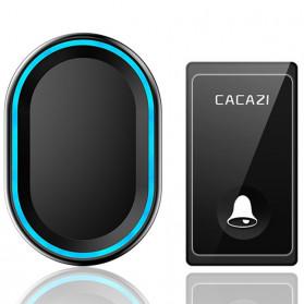 CACAZI Bel Pintu Wireless Doorbell LED 58 Tunes 1 PCS Receiver - FA80 - Black