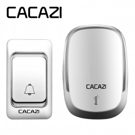 CACAZI Bel Pintu Wireless Doorbell LED 36 Tunes 1 PCS Receiver - K01-DC - Silver