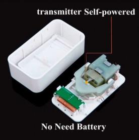 CACAZI Bel Pintu Wireless Doorbell LED 38 Tunes 1 PCS Receiver - V027G - White - 4
