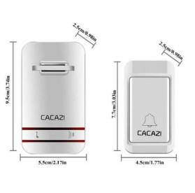 CACAZI Bel Pintu Wireless Doorbell LED 38 Tunes 1 PCS Receiver - V027G - White - 6