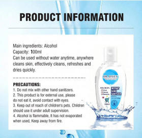 DR.Davey Instant Hand Sanitizer Antiseptic Gel Moisturizing Fresh Scent 100ml - 5