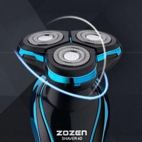 ZOZEN 5001 Electric Shaver Alat Cukur Rambut Jenggot Elektrik - ZN1159 - Blue - 4