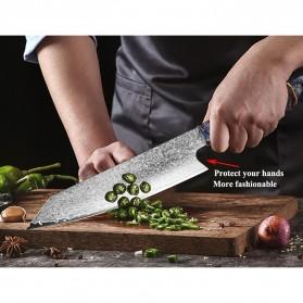 XITUO Pisau Dapur Damascus Pattern Chef Knife 8 Inch - CK112 - Silver - 4