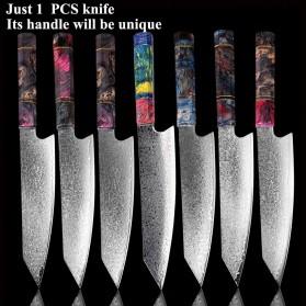XITUO Pisau Dapur Damascus Pattern Chef Knife 8 Inch - CK112 - Silver - 6