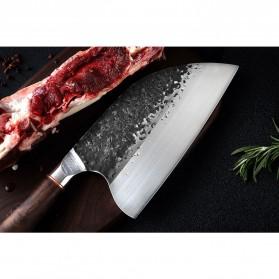XITUO Pisau Dapur Chef Knife Cleaver Wide 8 Inch - LZJ-9 - Silver - 4