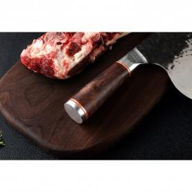 XITUO Pisau Dapur Chef Knife Cleaver Wide 8 Inch - LZJ-9 - Silver - 5