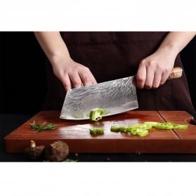 XITUO Pisau Dapur Damascus Pattern Chef Knife Cleaver 7.5 Inch - DL022 - Silver - 2