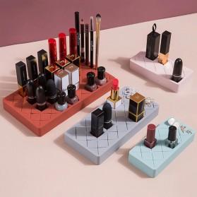 PUOU Rak Organizer Make Up Kosmetik Holder Compartment Silicone Size M - P03 - Red - 2
