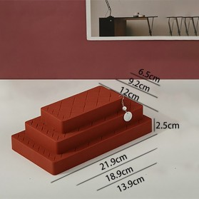PUOU Rak Organizer Make Up Kosmetik Holder Compartment Silicone Size M - P03 - Red - 4