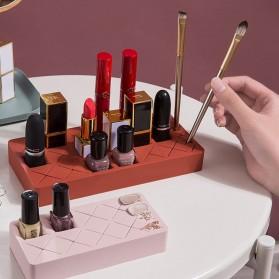 PUOU Rak Organizer Make Up Kosmetik Holder Compartment Silicone Size M - P03 - Red - 6