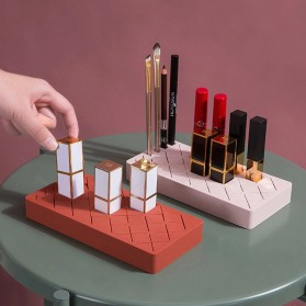 PUOU Rak Organizer Make Up Kosmetik Holder Compartment Silicone Size M - P03 - Red - 7