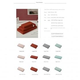 PUOU Rak Organizer Make Up Kosmetik Holder Compartment Silicone Size M - P03 - Red - 8