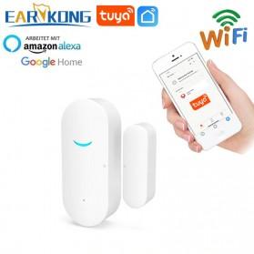 TUYA Smart Alarm Sensor Pintu Jendela Rumah WiFi - AW201 - White