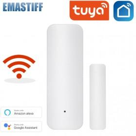 TUYA Smart Alarm Door Sensor Pintu Rumah WiFi - D06 - White