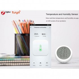 Tuya Zigbee Temperature Humidity Wireless Smart Sensor - TE100 - White - 2