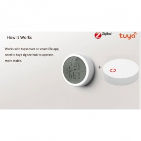 Tuya Zigbee Temperature Humidity Wireless Smart Sensor - TE100 - White - 3