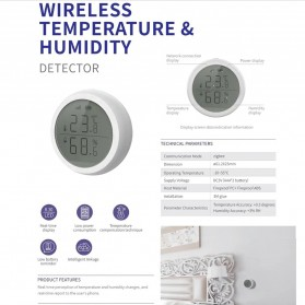 Tuya Zigbee Temperature Humidity Wireless Smart Sensor - TE100 - White - 4