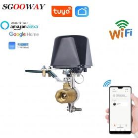 Tuya Pengatur Gas Pintar Smart WiFi Control Water Valve Gas Controller - Black
