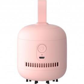 JISULIFE Pembersih Debu Portable Mini Desk Cleaner 1100mAh - DC01 - Pink