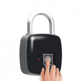 Gembok Koper Rumah Smart Fingerprint Padlock - L1 - Gray - 1