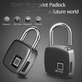 Gembok Koper Rumah Smart Fingerprint Padlock - L1 - Gray - 2