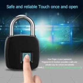 Gembok Koper Rumah Smart Fingerprint Padlock - L1 - Gray - 3